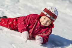 Het kind van de winter Royalty-vrije Stock Foto