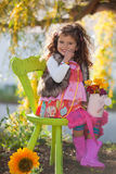Het kind van de zomer Royalty-vrije Stock Foto