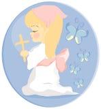 Het kind van het gebed stock illustratie