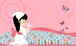 Het kind van het gebed royalty-vrije illustratie