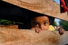 Het Kind van het meisje in Nepal Stock Foto