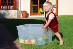 Het kind van het speelkwartier Stock Foto