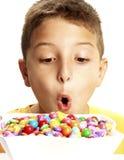 Het kind van het suikergoed. stock foto