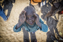 Het kind van Himba Stock Afbeelding