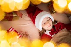 Het Kind van Kerstmiskerstmis Vakantie de Winter Stock Afbeeldingen