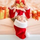 Het Kind van Kerstmiskerstmis Vakantie de Winter Stock Foto