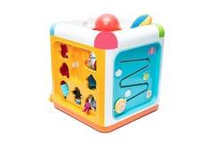Het kinderen_ s speelgoed isoleert op een witte achtergrond royalty-vrije stock afbeeldingen