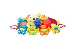 Het kinderen_ s speelgoed isoleert op een witte achtergrond stock afbeelding
