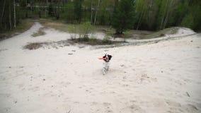 Het kinderenmeisje koestert de hond van de whippetterriër op de zomeraard stock video