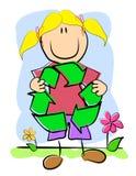 Het kinderlijke KringloopSymbool van de Tekening stock illustratie