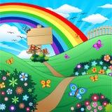 Het Kinderlijke Landschap van de lente en van de Zomer Stock Foto