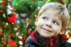 Het kindportret van Kerstmis royalty-vrije stock afbeelding