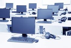 Het klaslokaal van de computer Royalty-vrije Stock Foto
