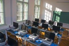 Het klaslokaal van de computer Stock Afbeelding