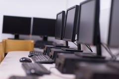 Het klaslokaal van de computer Royalty-vrije Stock Fotografie