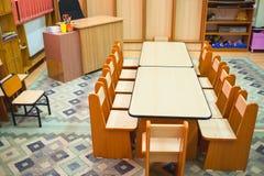 Het klaslokaal van de kleuterschool Stock Foto