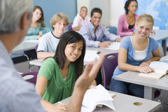 Het Klaslokaal van de middelbare school Stock Afbeelding