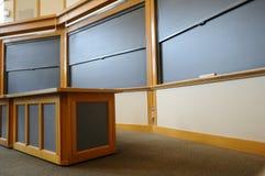 Het klaslokaal van de universiteit Stock Afbeeldingen