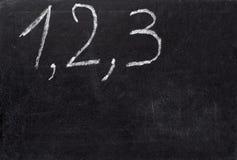 Het klaslokaalschool van het bord math Stock Afbeelding