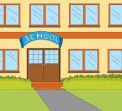 Het klaslokaalvenster van de school Stock Afbeelding