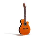 Het Klassieke Akoestische lichaam Guitar//whole/Isol van het schema stock afbeelding