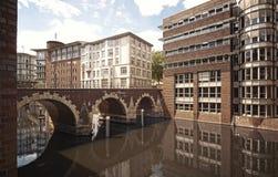Het klassieke Architecturale landschap van Hamburg Stock Fotografie