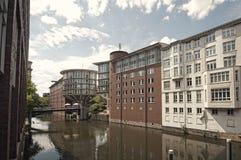 Het klassieke Architecturale landschap van Hamburg Stock Foto's