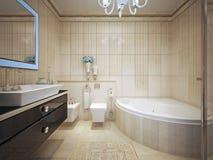 Het klassieke Binnenland van de Badkamers Stock Afbeeldingen