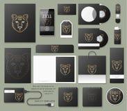 Het klassieke brandmerken Bedrijfs collectieve stijl in zwarte kleur Royalty-vrije Stock Foto