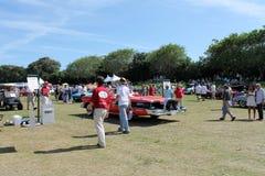 Het klassieke Edsel-drijven op gebiedsachtergedeelte Stock Fotografie