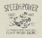 Het klassieke motorfiets rennen Royalty-vrije Stock Foto's