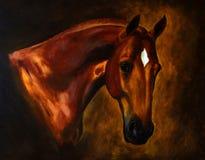 Het klassieke paardportret schilderen royalty-vrije stock afbeeldingen