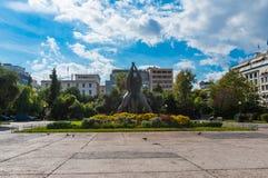 Het Klathmonosvierkant is het centrum het Historische Centrum van Athene royalty-vrije stock afbeeldingen