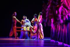 """Het kleden zich lijst-dans drama""""Mei Lanfang† Stock Fotografie"""