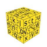 Het kleine alfabet dobbelt Royalty-vrije Stock Foto