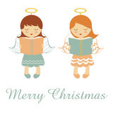 Het kleine engelen bidden royalty-vrije illustratie