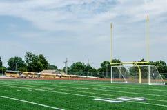 Het kleine gebied van de stadsvoetbal Stock Afbeeldingen