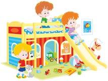 Het kleine jongens spelen stock illustratie