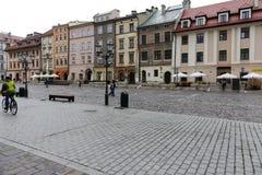 Het Kleine Marktvierkant in Krakau Royalty-vrije Stock Afbeeldingen