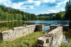 Het kleine reservoir van het waterwater Stock Afbeeldingen