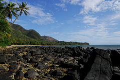 Het kleine Thio dorp van het strand Royalty-vrije Stock Afbeeldingen