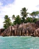 Het kleine verlaten eiland Stock Foto