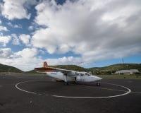 Het kleine vliegtuig van het Luchtflamenco in Culebra, Puerto Rico Stock Afbeeldingen