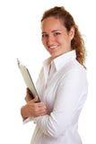 Het klembord van de bedrijfsvrouwenholding Stock Fotografie