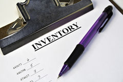 Het Klembord van de inventaris Stock Foto's