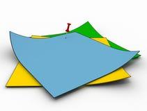 Het kleur geïsoleerdeh document royalty-vrije stock afbeelding