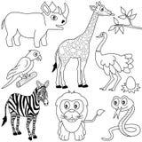 Het kleuren Afrikaanse Dieren [1] stock illustratie