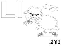 Het kleuren Alfabet voor Jonge geitjes, L Stock Foto