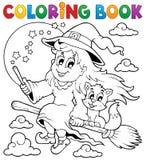 Het kleuren beeld 1 van boekhalloween royalty-vrije illustratie