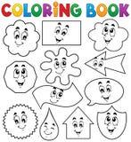 Het kleuren boek diverse vormen 2 Stock Afbeeldingen